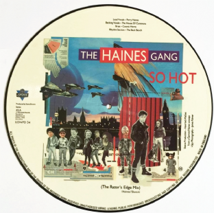 "Haines Gang (The) ‎- So Hot (The Razor's Edge Mix) (12"") (Picture Disc) (VG-EX/NM)"